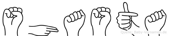Shasta in Fingersprache für Gehörlose
