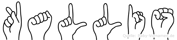 Kallis im Fingeralphabet der Deutschen Gebärdensprache