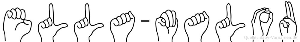 Ella-Malou im Fingeralphabet der Deutschen Gebärdensprache