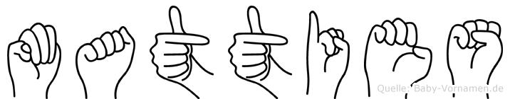 Matties in Fingersprache für Gehörlose
