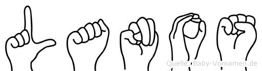 Lanos in Fingersprache für Gehörlose