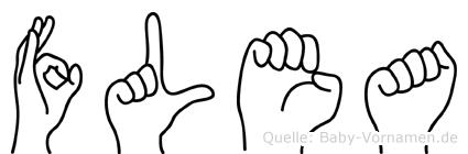Flea im Fingeralphabet der Deutschen Gebärdensprache