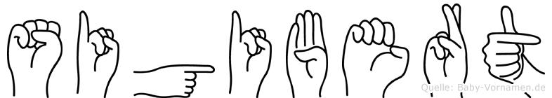 Sigibert in Fingersprache für Gehörlose