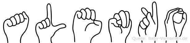 Alenko im Fingeralphabet der Deutschen Gebärdensprache