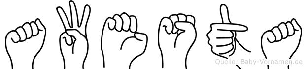 Awesta in Fingersprache für Gehörlose