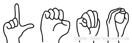 Lemo in Fingersprache für Gehörlose