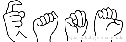 Xane in Fingersprache für Gehörlose