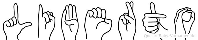 Liberto in Fingersprache für Gehörlose