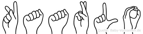 Kaarlo im Fingeralphabet der Deutschen Gebärdensprache