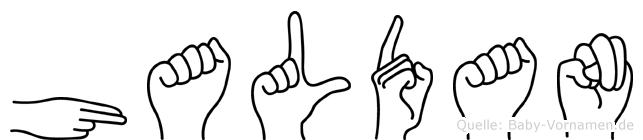 Haldan in Fingersprache für Gehörlose