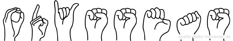 Odysseas in Fingersprache für Gehörlose