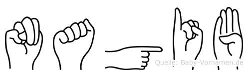 Nagib in Fingersprache für Gehörlose
