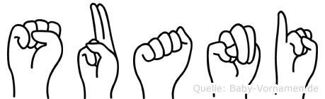 Suani in Fingersprache für Gehörlose