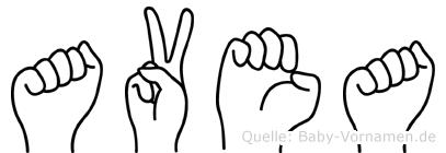 Avea in Fingersprache für Gehörlose