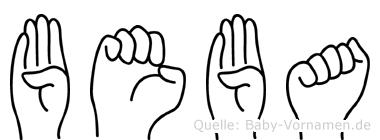 Beba im Fingeralphabet der Deutschen Gebärdensprache
