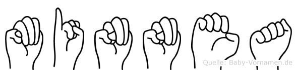 Minnea in Fingersprache für Gehörlose