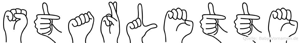 Starlette im Fingeralphabet der Deutschen Gebärdensprache