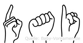 Dai in Fingersprache für Gehörlose