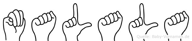Malala in Fingersprache für Gehörlose