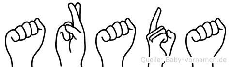 Arada in Fingersprache für Gehörlose