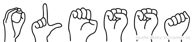 Olessa in Fingersprache für Gehörlose
