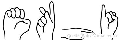 Ekhi in Fingersprache für Gehörlose