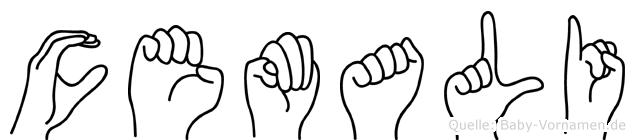 Cemali im Fingeralphabet der Deutschen Gebärdensprache