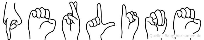 Perline in Fingersprache für Gehörlose