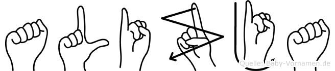 Alizja in Fingersprache für Gehörlose