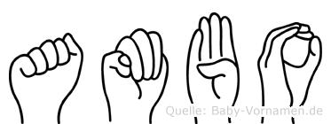 Ambo in Fingersprache für Gehörlose