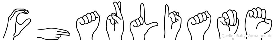 Charliane in Fingersprache für Gehörlose