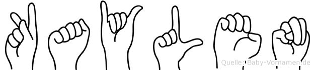 Kaylen im Fingeralphabet der Deutschen Gebärdensprache