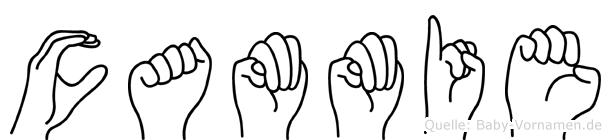 Cammie im Fingeralphabet der Deutschen Gebärdensprache