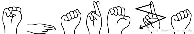 Shareza in Fingersprache für Gehörlose