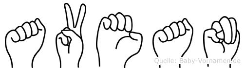 Avean in Fingersprache für Gehörlose