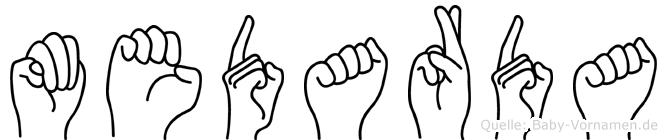 Medarda in Fingersprache für Gehörlose