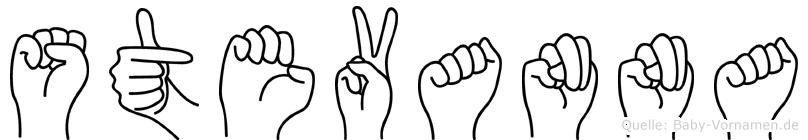 Stevanna im Fingeralphabet der Deutschen Gebärdensprache