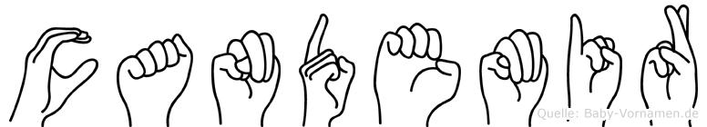 Candemir im Fingeralphabet der Deutschen Gebärdensprache