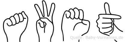 Awet in Fingersprache für Gehörlose