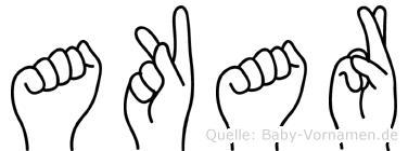 Akar in Fingersprache für Gehörlose