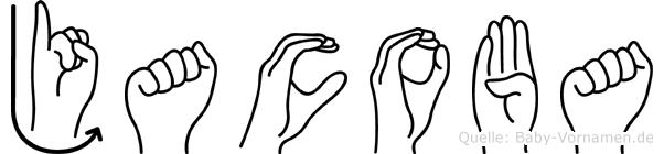 Jacoba im Fingeralphabet der Deutschen Gebärdensprache