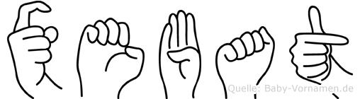Xebat in Fingersprache für Gehörlose