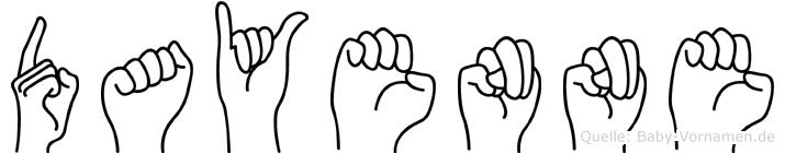 Dayenne im Fingeralphabet der Deutschen Gebärdensprache