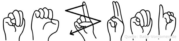 Nezumi in Fingersprache für Gehörlose