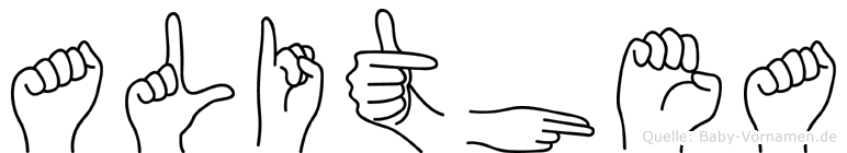 Alithea in Fingersprache für Gehörlose