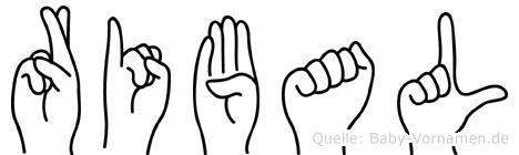 Ribal im Fingeralphabet der Deutschen Gebärdensprache