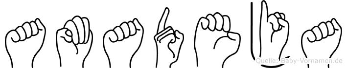 Amadeja in Fingersprache für Gehörlose