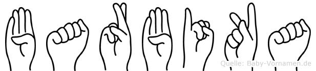 Barbika im Fingeralphabet der Deutschen Gebärdensprache