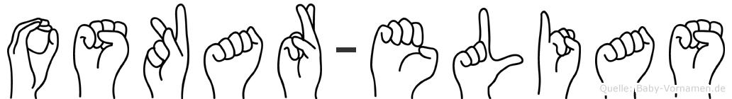 Oskar-Elias im Fingeralphabet der Deutschen Gebärdensprache