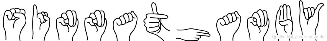 Sinnathamby in Fingersprache für Gehörlose